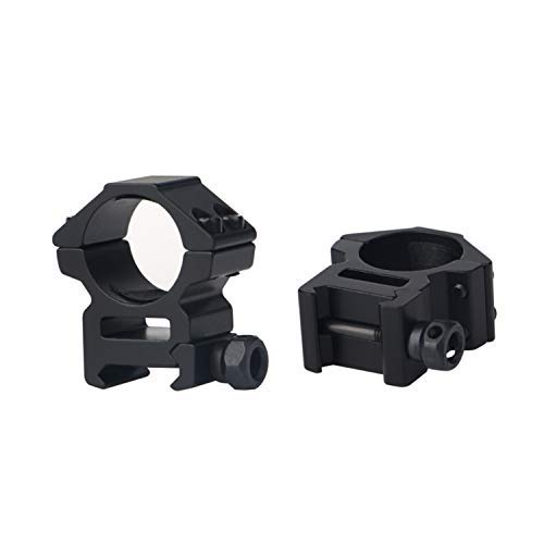 FOCUHUNTER Medium Profile Scope Rings - 25.4mm Rifle Airsoft Mount Rings Adapter with 20mm Weaver/Picatinny Rail