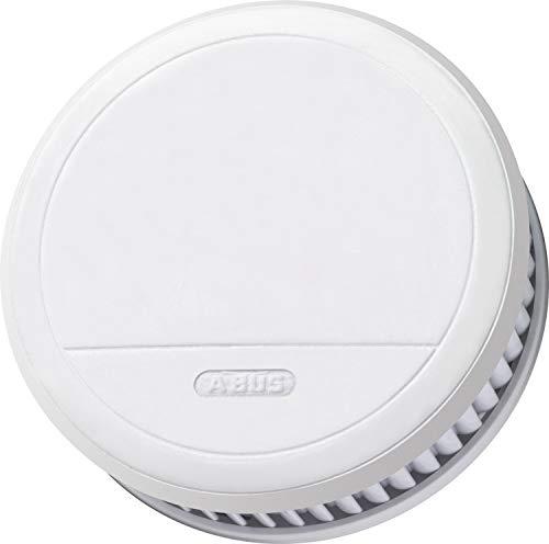 ABUS Rauchmelder RM23 (Brandmelder mit Hitzewarnfunktion und Longlife Batterie für 10 Jahre, zwei Sensoren, inkl. Magnethalter, ohne Blink-LED, auch für Küche und Schlafzimmer, weiß, 30276, 1 Stück)
