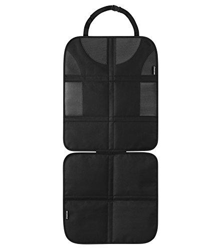 Maxi-Cosi Rücksitzschoner, Universal Kindersitz Schutzauflage, schnell und einfach zu montieren und zu reinigen, passend für alle Autos, schwarz