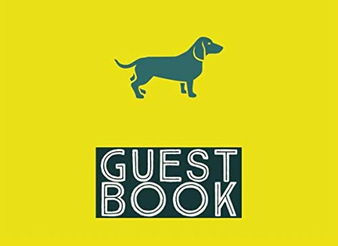 否定する水っぽい周波数Guest Book: Single Sided Animal Party Guest Book With Dachshund Cover