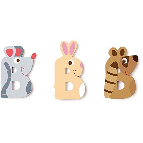 SCRATCH Alle andere meubels, decoratie en opslag voor kinderen SCRATCHScratch Deco: Wooden Letter 'B', 3 asstd, stijlen, 3 lijm included, on Card, meerkleurig (meer dan een)