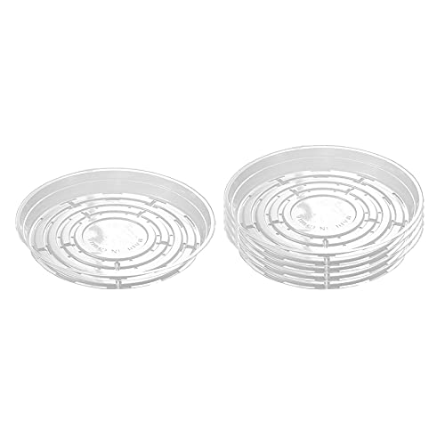 Plant Saucer 5 Pack Plant Tray,Plastic Plant Saucers Drip Trays,Excellent for Indoor Outdoor Flower Pots - 8inch