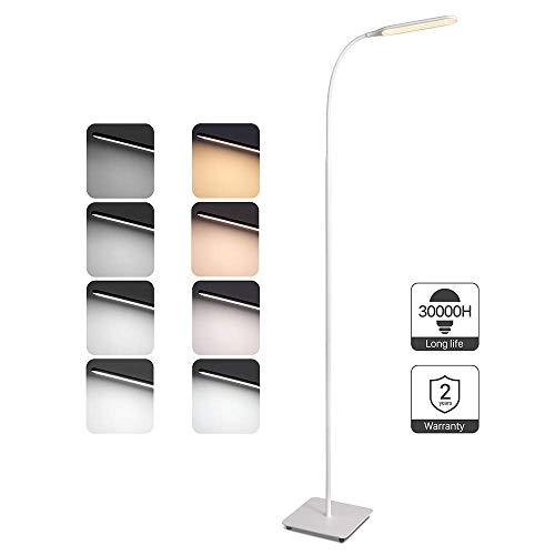 Lampara de pie LED Regulable TaoTronics Luz de Pie para Salon, Dormitorio, Estudio y Leer, Diseno Moderno, Luz cuidado Ojos, Bajo Consumo, Blanco