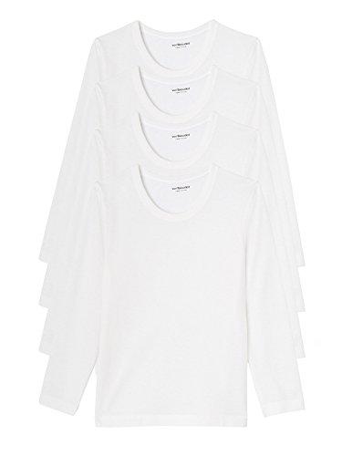 Vertbaudet Lot de 4 T-Shirts garçon Blanc 4 A
