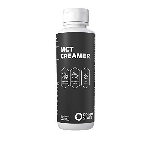 MCT Creamer, emulgiertes MCT Öl für den perfekten Bulletproof Coffee ohne Mixer, mit 45% Caprylsäure C8, ketogene Lebensmittel von Primal State - 250ml