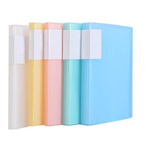 TUKA-i-AKUT [5x] Sichtbuch PP A5 insgesamt 200 Klarsichthüllen für 400 Blatt (je Buch 40 Klarsichthüllen), Transparente Hülle, Solid Präsentationsordner aus PP, 5er Set in 5 Farben, TKD8038-5x