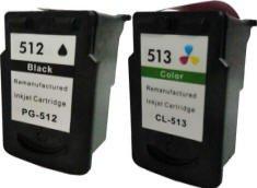 Prestige Cartridge PG-512/CL-513 2 Cartucce d'Inchiostro compatibile per Stampanti Canon Pixma Serie, Nero/Colore