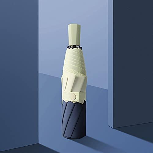 WANZPITS Paraguas Compacto Compacto Compacto A Prueba De Viento, Color De Costura UV Protección Al Aire Libre Paraguas De Sombrilla,A