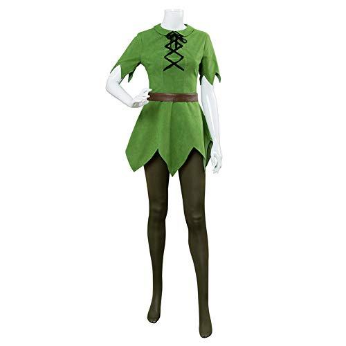 ZQ Cosplay Kostüm Damen/Herren Version Grün Top Hosen Hut Gürtel Halloween Karneval Kostüme Benutzerdefinierte Custommade Adult,Women,XXL