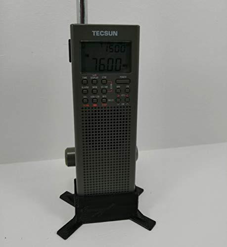 Soporte de Escritorio para Radio Tecsun Pl-365 / Pl-360. Negro también Compatible con County Comm Gp-5/SSB.