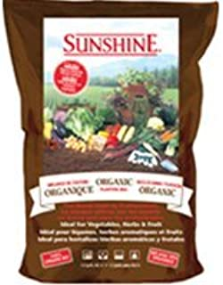 SunGro Horticulture SUGROM2.5 2-1/2-Cubic Feet Sungro Sunshine Organic Mix for Plants
