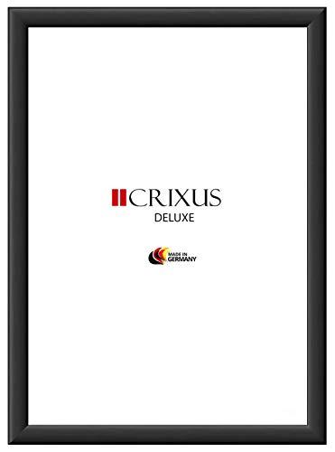 CRIXUS Deluxe Bilderrahmen für 84 cm x 59 cm Bilder, Farbe: schwarz, mit Acrylglas Kunstglas 1mm (Bruchsicher), Rahmenbreite 38 mm