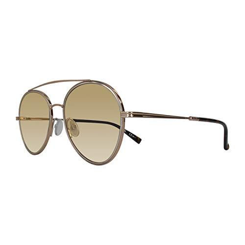Max Mara Gafas de sol para mujer, modelo Wire II Gold Havana/Yl Yellow Talla única