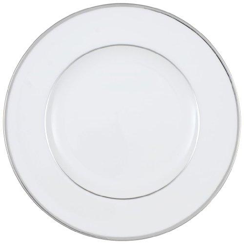 Villeroy & Boch Anmut Platinum No. 2 Speiseteller, edler Teller aus Premium Bone Porzellan mit echtem Platindekor, rund, weiß, 27 cm