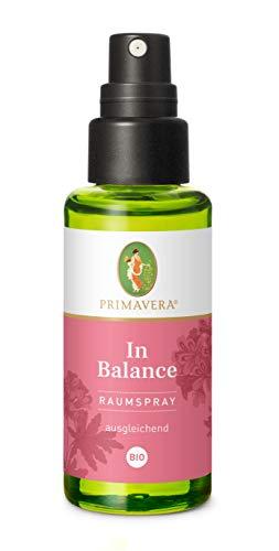 PRIMAVERA Raumspray In Balance bio 50 ml - Rose, Orange und Rosengeranie- Aromadiffuser, Aromatherapie - augleichend - vegan
