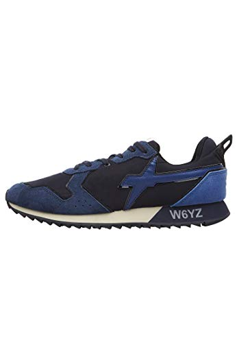 sneakers uomo wizz w6yz Jet-M.-Sneakers in Pelle e Nylon Blu 45
