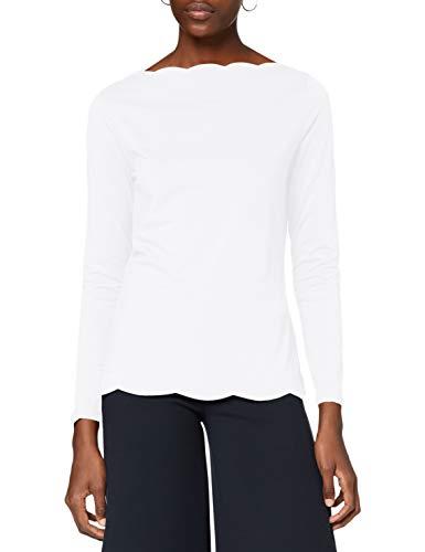 ESPRIT Collection Damen 110EO1K319 T-Shirt, Off White (110), S