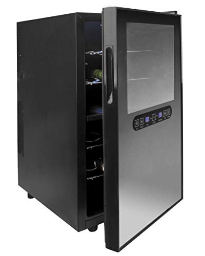 Lacor 69185 Réfrigérateur pour 18 bouteilles de vin Noir