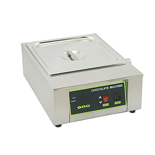F-JX Chocolate Melting Furnace, Commercial Baking Thermostat, Stainless Steel Chocolate Heating Pot, No Need to Add Water