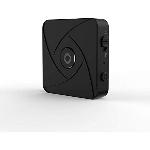 OEHLBACH BTR Xtreme 5.0 Mobiler Bluetooth Dual Pairing Adapter Transmitter/Receiver, 2 in 1, Wireless Sender/Empfänger mit aptX HD und Low Latency - Schwarz