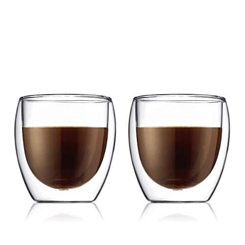 Bodum 4558-10 Set de verres double paroi, Transparent, 25 cl