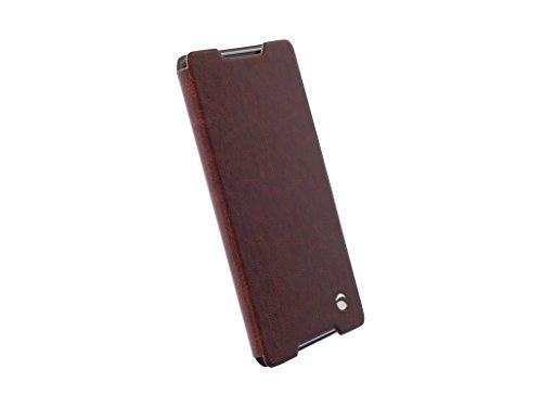 Krusell 60226 Handy-Schutzhülle Blatt Braun - Handy-Schutzhüllen (Blatt, Sony, Xperia Z3+, Xperia Z4, Xperia Z3+ Dual, Braun)
