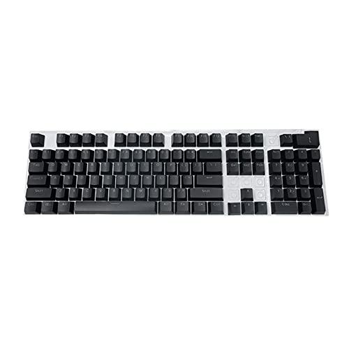 Conjunto de Llaves Teclado mecánico KeyCaps 104PCS / Set ERGONÓMICO Backlit Key Cap KeyCaps para Accesorios de Keyboard de Juego Teclado keycaps (Color : Black)