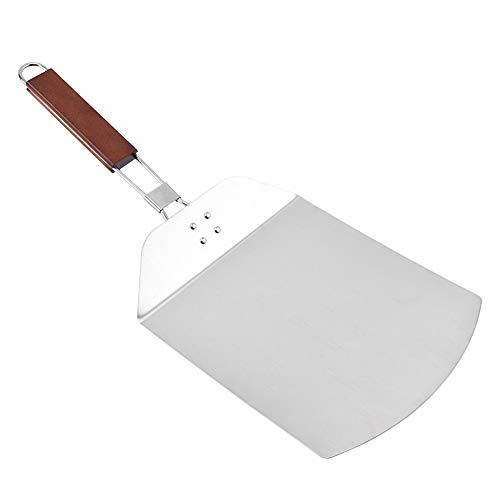 Pizza Peel,3.58x9.45x22.44 inch Stainless Steel Pizza Paddle with Ergonomic Folding Handle,Convenient To Store,Good Helper For Baking,Homemade Pizza And Bread