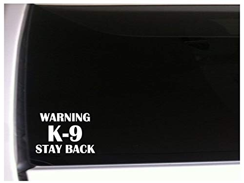 yyone Car Sticker Car Window Decal Warning K-9 Stay Back Car Decal Bumper Sticker for Auto Cars Trucks Walls Windows Laptops Vinyl Decal
