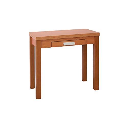 Mesa de Cocina - Modelo HENA - Color Cerezo/Cerezo - Material MDF/Madera - Medidas 80 x 40/80 x 76 cm