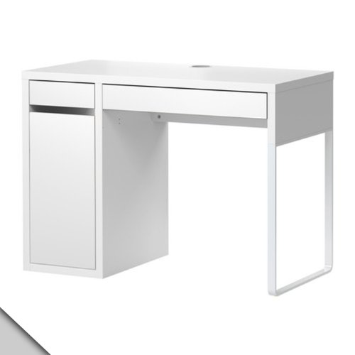 IKEA Micke Desk White w/Shelf Inside