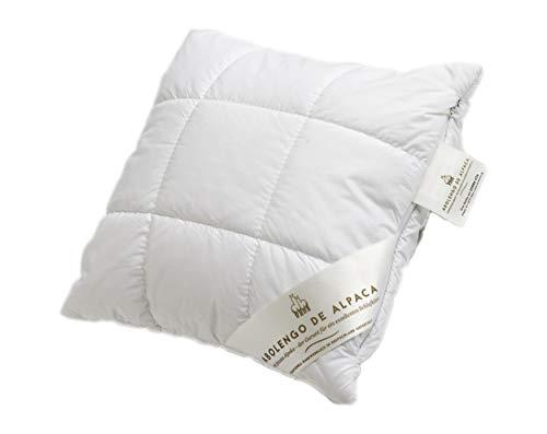 Abolengo de Alpaca Alpaka Zirben Kissen mit feinstem Baby Alpaka versteppt und beruhigender Zirbe 40x40cm, medium-fest (Füllung: Schurwollkügelchen mit Zirbe beigemischt)