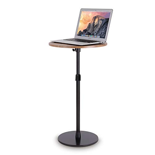 viozonスモールフロアスタンディングデスク サイドテーブル ベッドサイド ソファ 寝室テーブル 高さ調整可能 簡単組立 小型家具(黒と茶色) up 9 t m