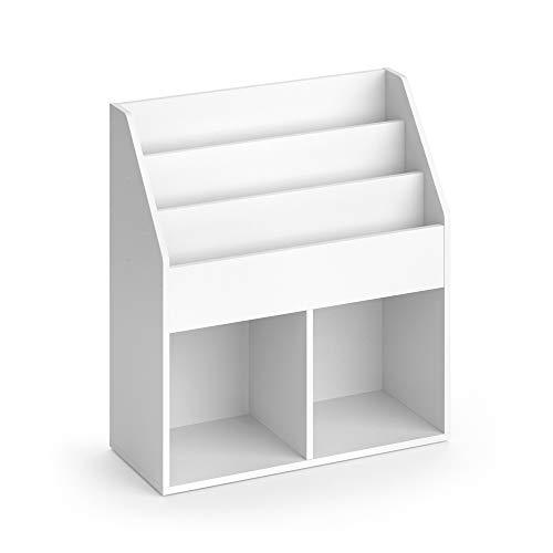 Vicco Kinderregal Luigi Spielzeugablage Bücherregal Aufbewahrungsregal Comic (Weiß, matt) (72 x 79 x 30,7 cm)