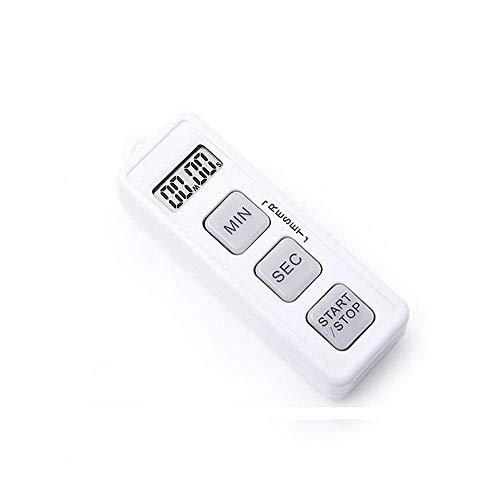 Timer da Cucina Digitale Timer da Cucina Timer da Cucina Digitale Display LCD Cronometro Sveglia Orologio per Gestione del Tempo Timer da Cucina Timer da Allenamento Life Timer (Colore: Bian