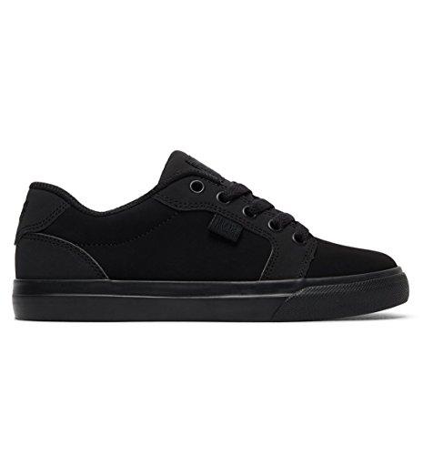 DC Youth Anvil Skate Shoe, Black/Black, 5.5 M US Big Kid