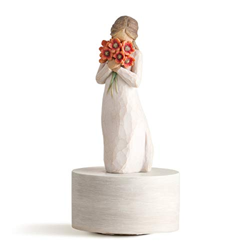 Willow Tree Surrounded by Love Musical, Sculpted Hand-Painted Musical Figure