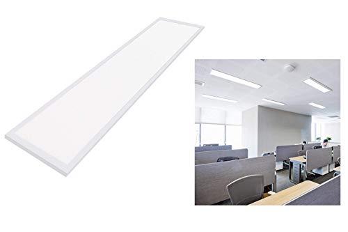 Plafoniera led 120x30cm bianca moderna luce fredda 48w pannello led con staffa
