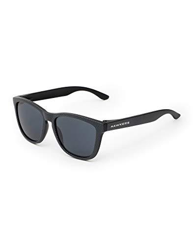 HAWKERS Gafas de Sol Carbono, para Hombre y Mujer, con Montura Negra Mate con Trama y Lente Oscura, Protección UV400, One Size Unisex adulto