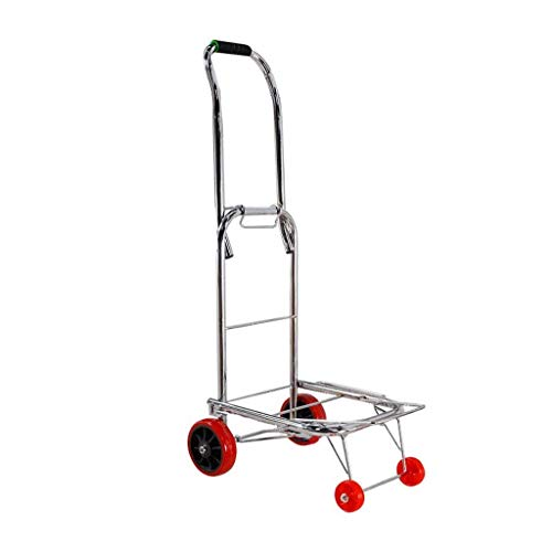 LLSS Tragbarer Gepäckwagen, Faltbarer Mehrzweckwagen, Einkaufswagen, Einkaufswagen, Lastlager für den Einkauf im Freien