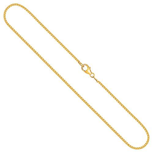 Goldkette, Venezianerkette Gelbgold 750/18 K, Länge 42 cm, Breite 1.2 mm, Gewicht ca. 5 g, NEU