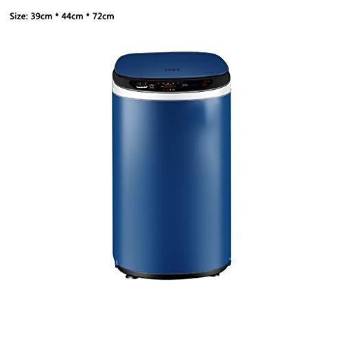 LQ washing machines Lavadoras Pequeña Máquina Completamente Automática De Lavado Capacidad De 3,5 Kg, 350W Lavadora De Acero Inoxidable, La Luz Azul De Esterilización 220V Lavadora (Color : Blue)