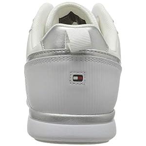 Tommy Hilfiger Metallic Lightweight Sneaker, Zapatillas Mujer, White, 39 EU