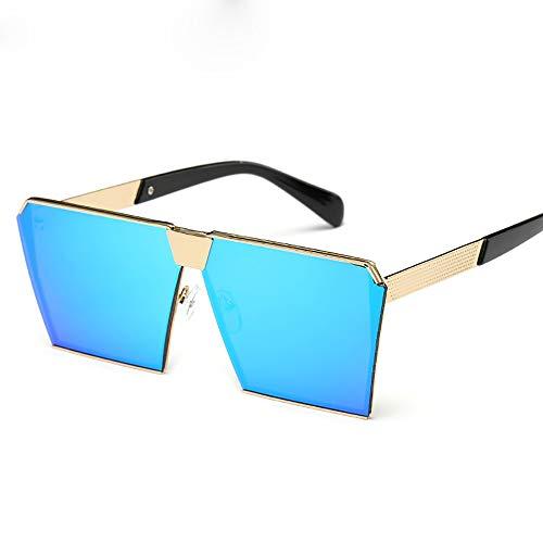 FGKING Mujeres Gafas de Sol PC Lente Sunglass, Moda Sunglasses100% protección UV Metal Marco Gafas de Sol para Mujeres,Blue