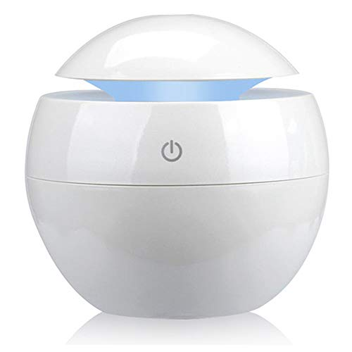 LZC Mini-USB-Diffusor für ätherische Öle, 1 tragbarer Luftbefeuchter, 120-ml-Wassertank für eine Lebensdauer von bis zu 10 Stunden bei gleichzeitiger Stimmungsaufhellung für das Home im Schlafzimmer
