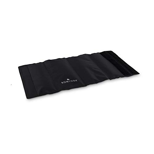 ROMINOX Geschenkartikel Kühlmanschette // Cool Black – Weinzubehör, Weinliebhaber, Praktische Flaschen-Gelmanschette für die Gefriertruhe, wiederverwendbar, variabler Klettverschluss; Maße: ca. 35.5 x 17 x 1 cm