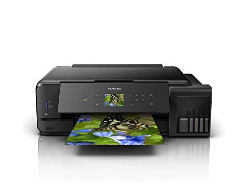 Epson EcoTank ET-7750 3-in-1 Tinten-Multifunktionsgerät (Kopie, Scan, Druck, A3, 5 Farben, Fotodruck, Duplex, WiFi, Ethernet, Display, USB 2.0), Tintentank, hohe Reichweite, niedrige Seitenkosten