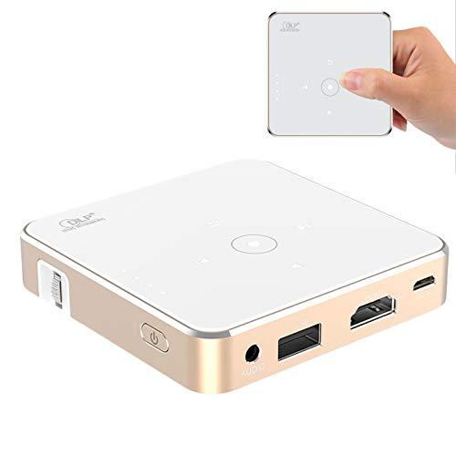 0℃ Outdoor Portátil DLP Ultra Mini Proyector Inteligente de Alta Definición y Pantalla Grande, Diseño Mini y Práctico, Mini Proyector Portátil, Proyector de Bolsillo Dip, Compatibilidad Contemporánea