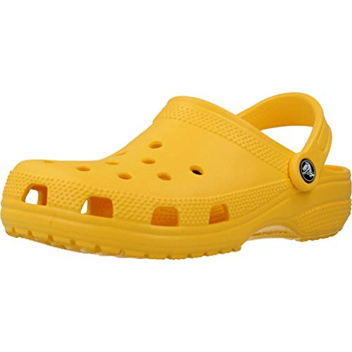 Crocs Classic U, Zuecos Unisex Adulto, Lemon, 39/40 EU