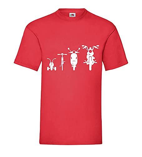 shirt84.de Evolution Front 2.0 - Camiseta para hombre, rojo, L